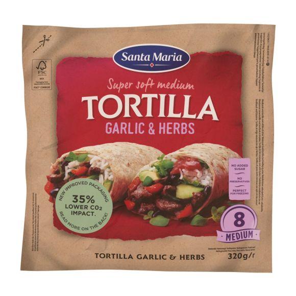 Santa Maria Soft tortilla garlic & herbs product photo