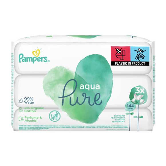 Pampers Babydoekjes aqua pure product photo