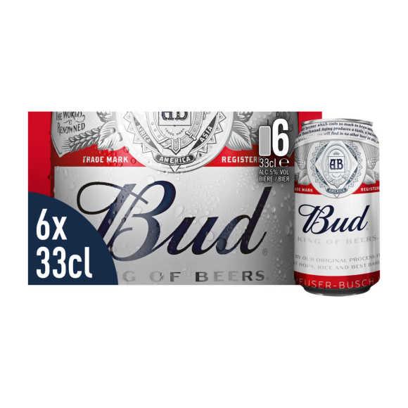 Bud Pils bier blikken product photo