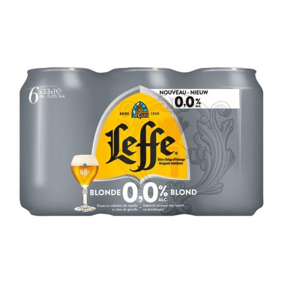 Leffe Blond 0.0% pils blik 6 x 33 cl product photo