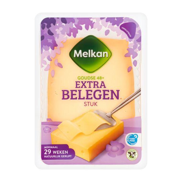 Melkan Extra belegen 48+ kaas stuk product photo