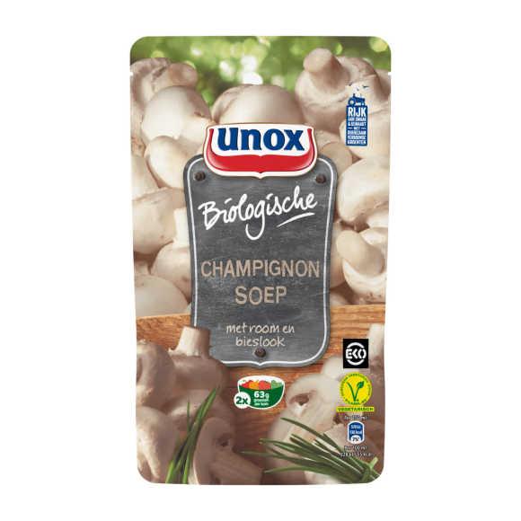 Unox Soep in zak champignon biologisch product photo
