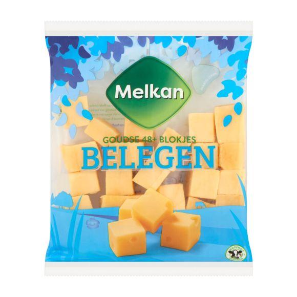 Melkan Blokjes kaas belegen 48+ product photo