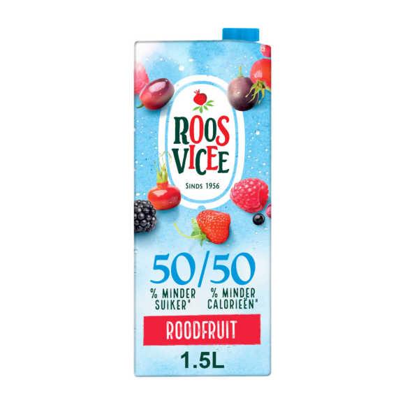 Roosvicee 50/50 roodfruit product photo