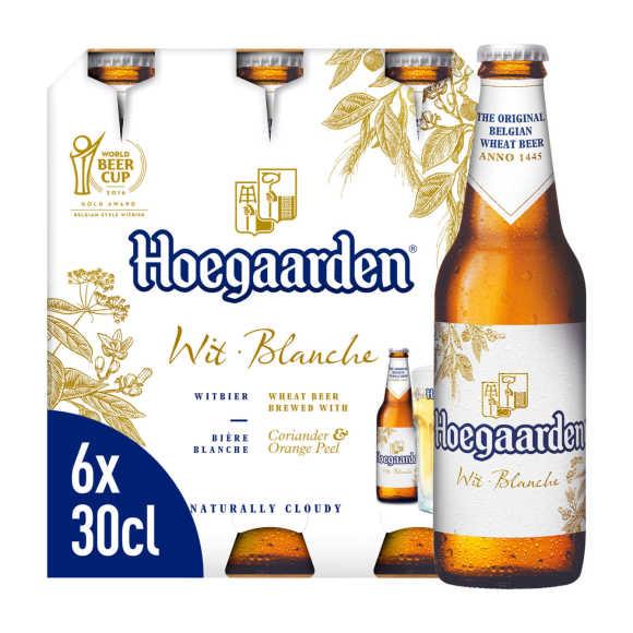 Hoegaarden Wit Belgisch Bier Flessen 6 x 30 cl product photo