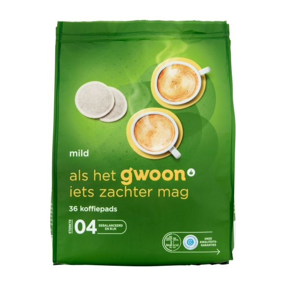 g'woon Koffiepads mild product photo