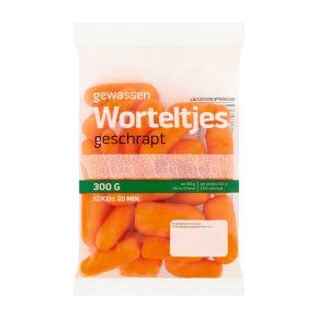 Geschrapte worteltjes product photo