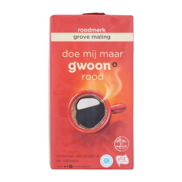 g'woon Roodmerk koffie grove snelfiltermaling product photo