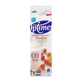 Optimel Drinkyoghurt Framboos 0% Vet 1000 ml Pak met punt product photo