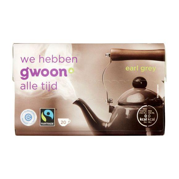 g'woon Earl grey zwarte thee product photo