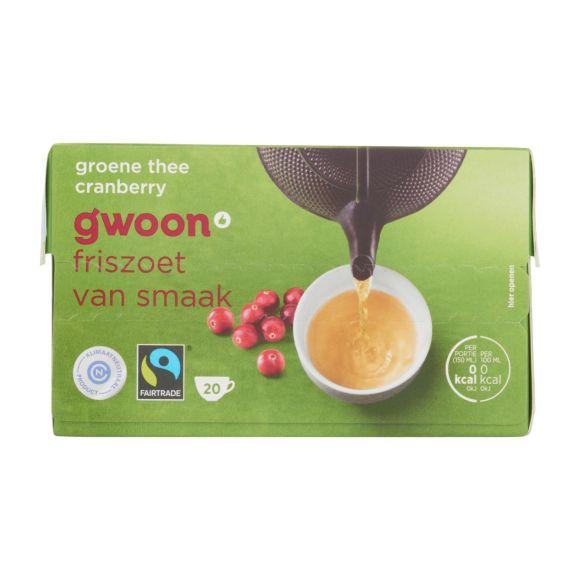g'woon Groene thee cranberry 20 stuks product photo