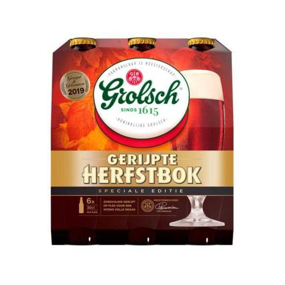 Grolsch Gerijpte herfstbok bier fles 6 x 30 cl product photo