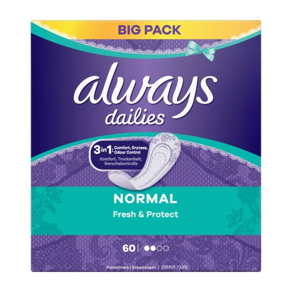 Always Dailies Normal Fresh & Protect inlegkruisjes fris product photo