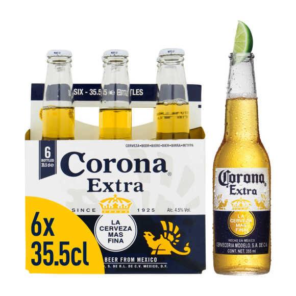 Corona Extra Mexicaans Pils Bier Flessen 6 x 355 ml product photo