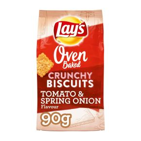 Lay's Oven baked crunchy biscuits tomato & spring onionzoutjes product photo