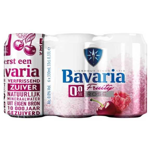 Bavaria 0.0% Fruity rosé alcoholvrij speciaal bier blik product photo