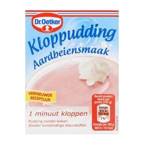 Dr. Oetker Kloppudding aardbei product photo
