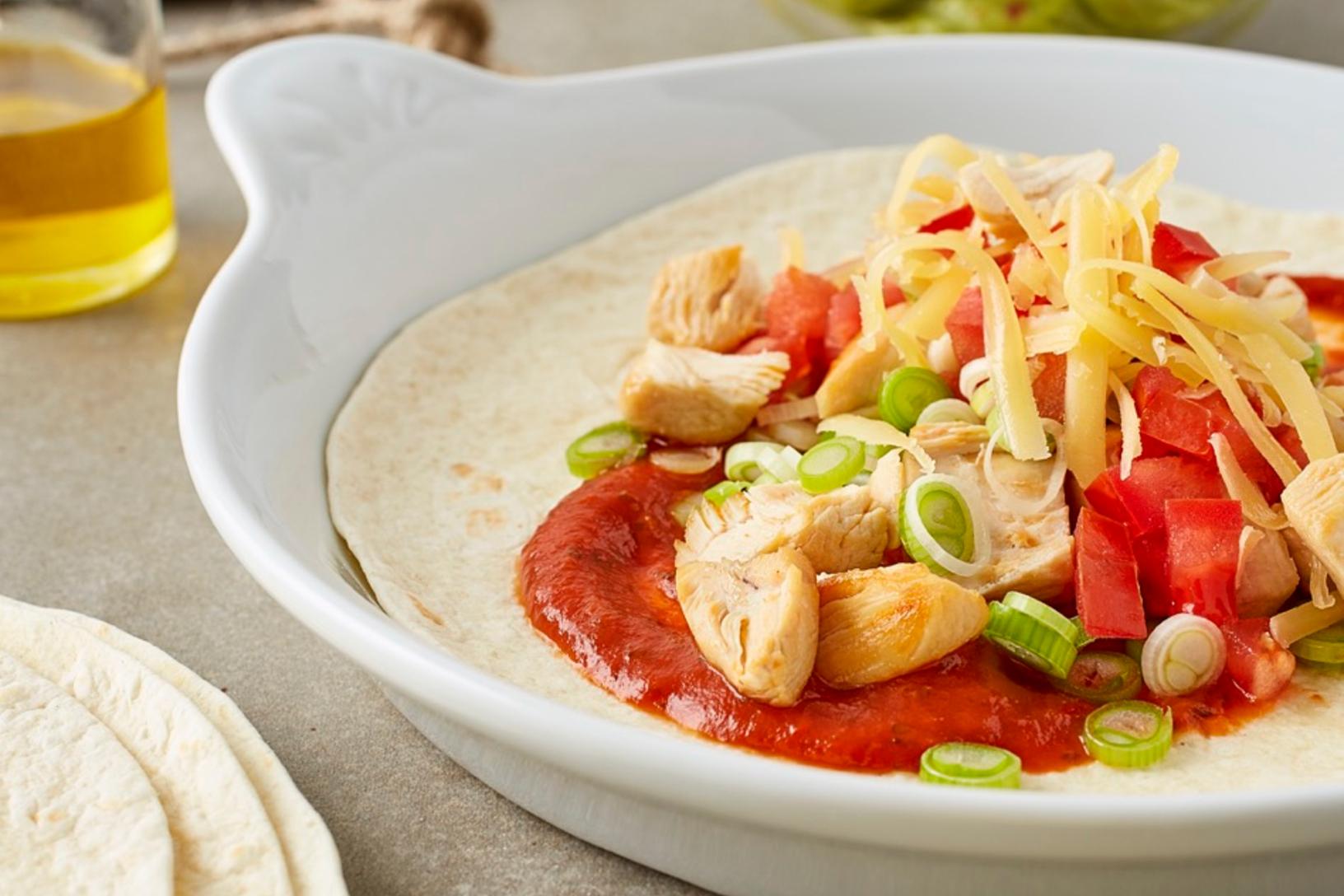 دجاج مخبوز علي الطريقة المكسيكية