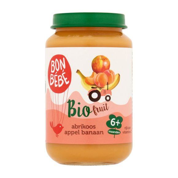 Bonbébé Fruithapje abrikoos appel banaan product photo