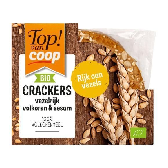 Top! van Coop Cracker vezelrijk volkoren & sesamzaad product photo
