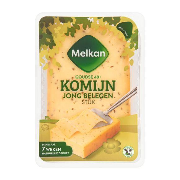 Melkan Jong belegen 48+ komijn kaas stuk product photo