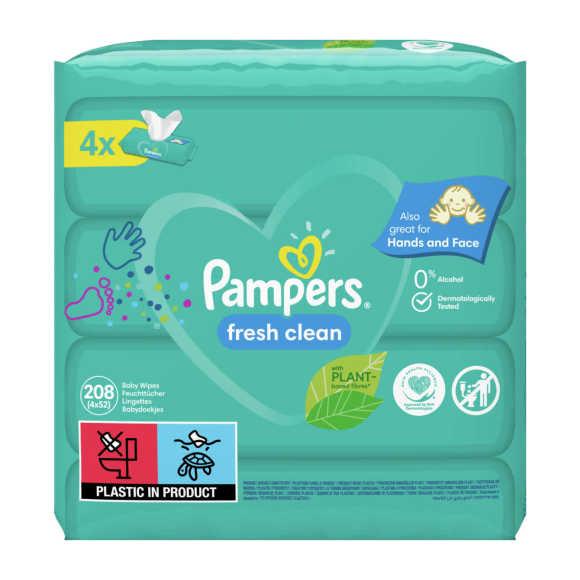 Pampers Fresh Clean babydoekjes 4 Verpakkingen product photo