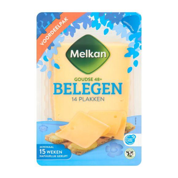 Melkan Belegen 48+ kaas plakken voordeelverpakking product photo