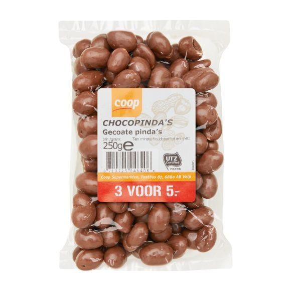 Chocolade pinda's product photo