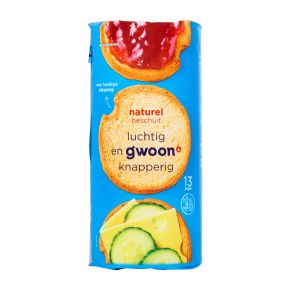 g'woon Beschuit naturel product photo
