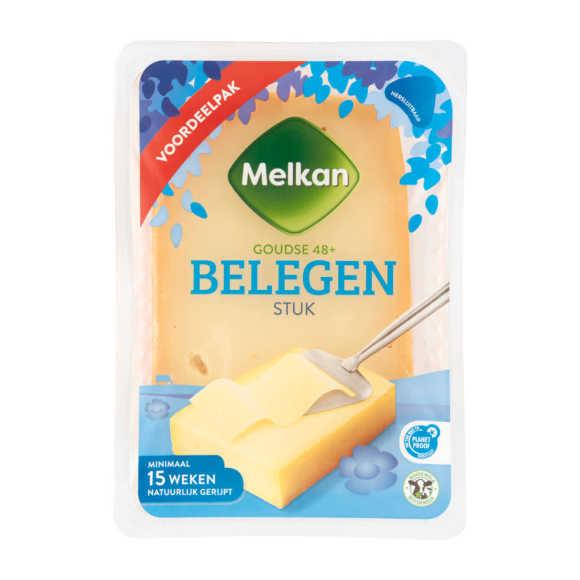 Melkan Goudse Kaas 48+ Belegen Stuk Voordeelpak 910 g product photo