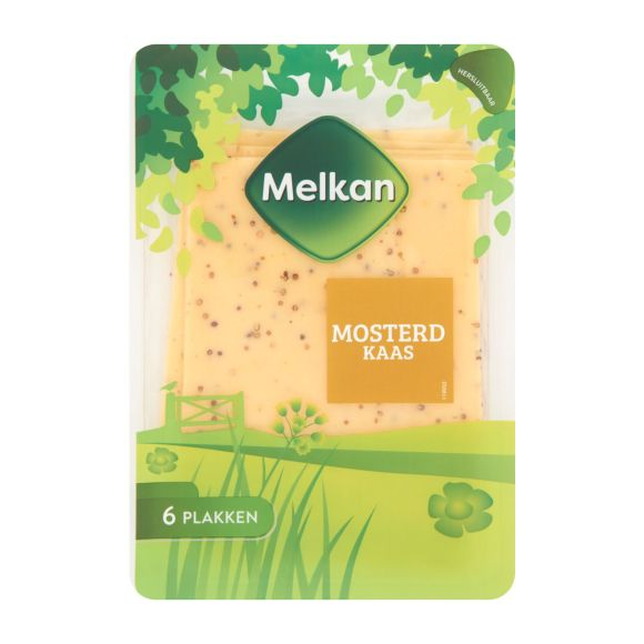 Melkan Mosterd kaas plakken product photo