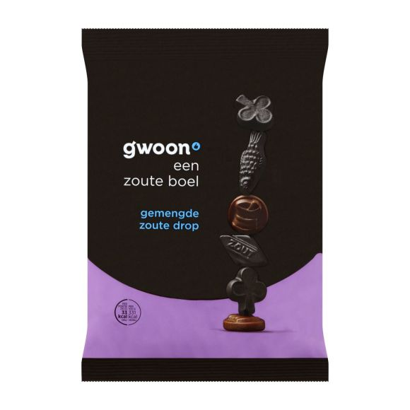 g'woon Zoute drop gemengd product photo