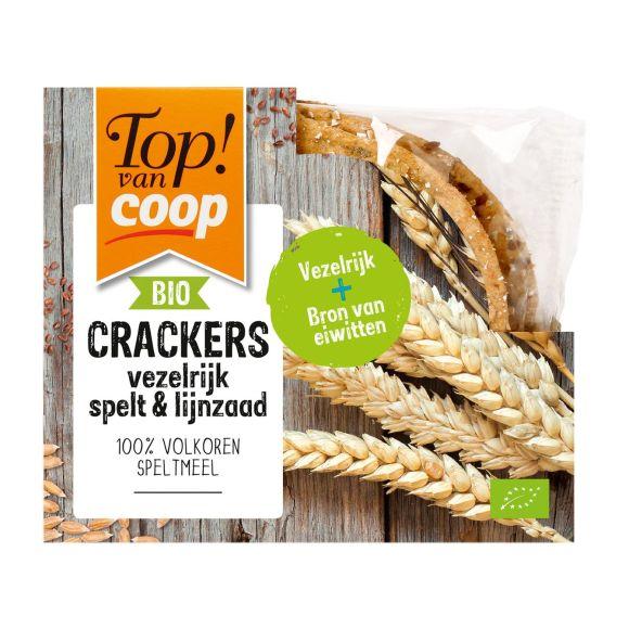 Top! van Coop Crackers vezelrijk spelt & lijnzaad product photo