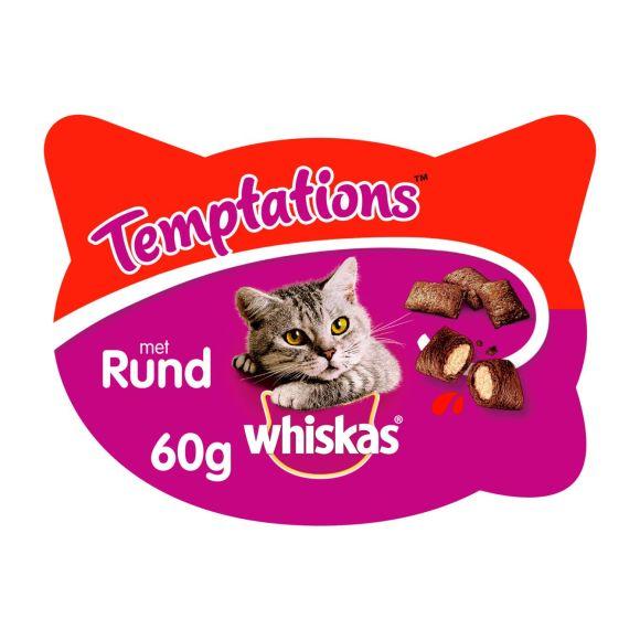 Whiskas Temptations - Rund - Kattensnacks - 60 g product photo