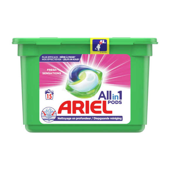 Ariel 3in1 pods pink sensation product photo