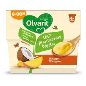 Olvarit Plantaardig dessert mango 6+ maanden product photo