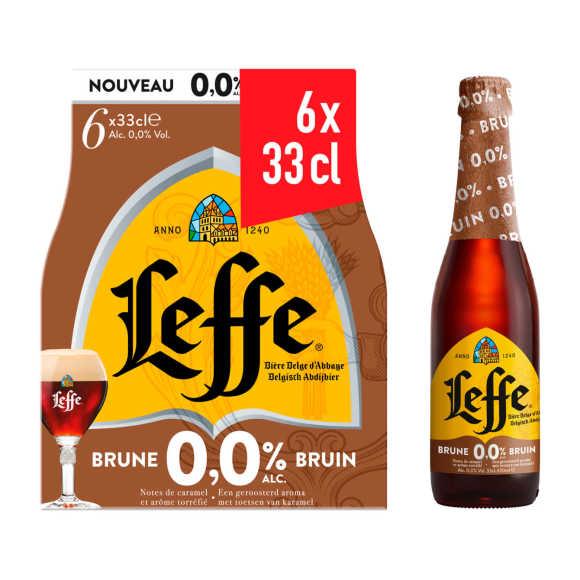 Leffe Bruin 0,0% Belgisch Abdijbier Flessen 6 x 33cl product photo