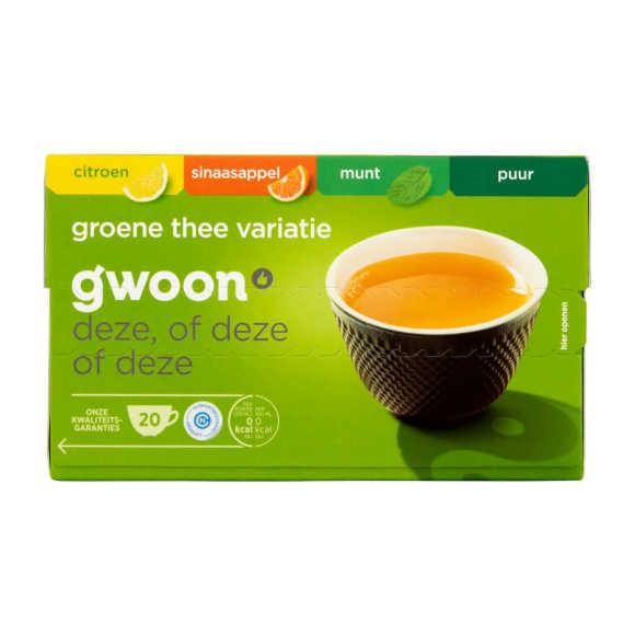 g'woon Groene thee variatie product photo