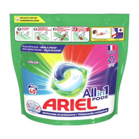 Ariel Wasmiddel all in 1 pods color product photo