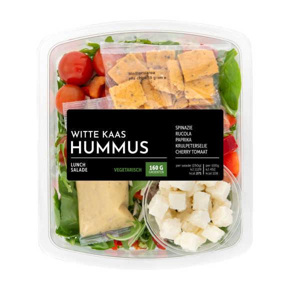 Fresh & Easy Lunch salade kaas hummus product photo