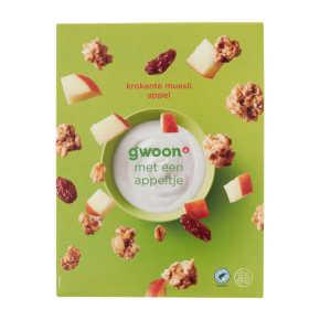 g'woon Muesli krokant appel product photo