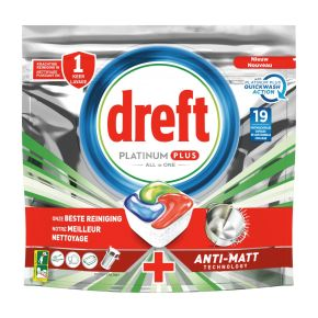 Dreft Vaatwastabletten platinum plus quick product photo