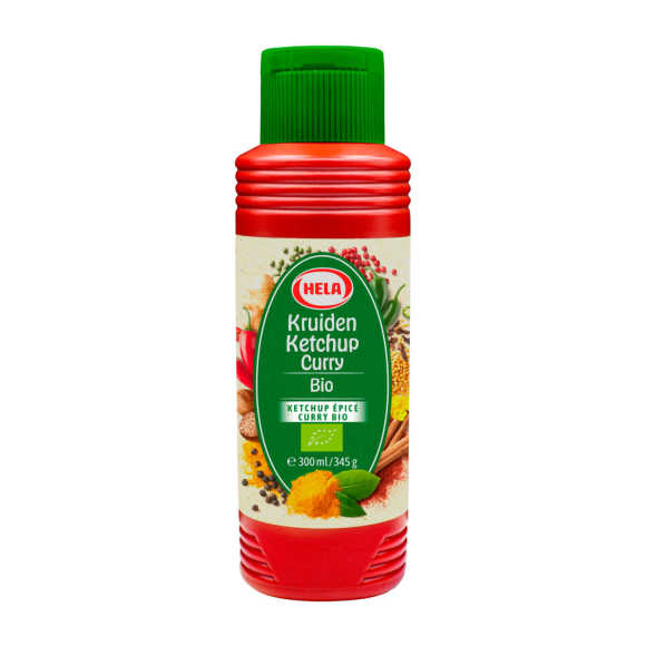 Hela Kruiden ketchup curry biologisch product photo
