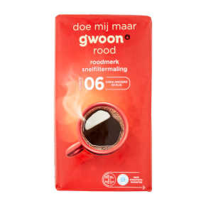 g'woon Snelfilter koffie rood product photo