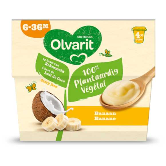 Olvarit 6 Maanden toetje kokos banaan product photo