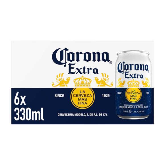 Corona Extra Mexicaans Pils Blikken 6 x 330 ml product photo