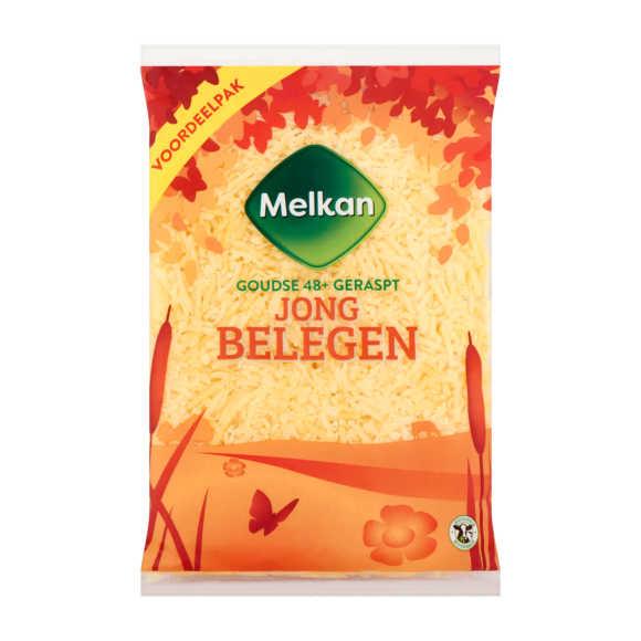 Melkan Geraspte kaas jong belegen 48+ voordeel product photo