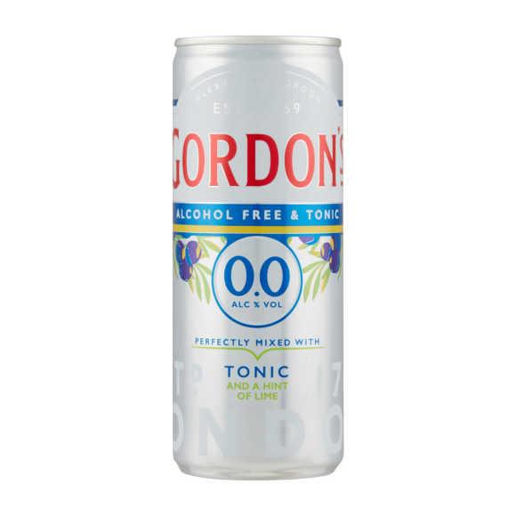 Gordon's 0,0% gin & tonic lime product photo