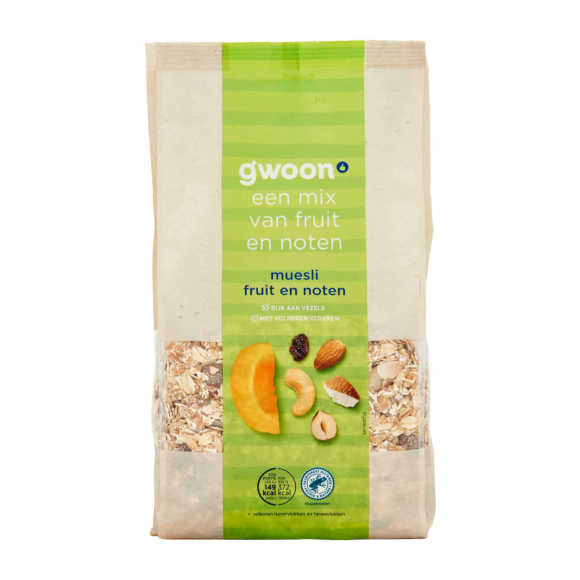 g'woon Muesli fruit en noten product photo