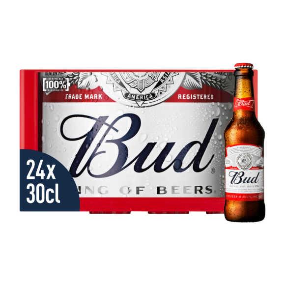 Bud Pils Bier Flessen Krat 24 x 30cl product photo